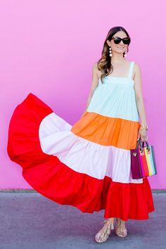 MDS Stripes Maxi Dress