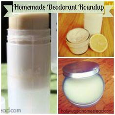 Home Made Deodorant Roundup - 12 chemical-free, safe homemade deodorant recipes