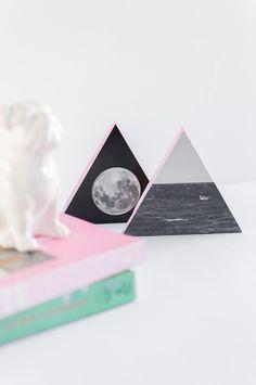 DIY quadros geométricos com foto   A Parede Indecisa