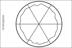 Pizza templates to decorate and colour (Math reinforce)