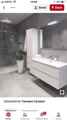Grey bathrooms designs - 32 best bathroom designs images of beautiful bathroom remodel ideas to try 20 Grey Bathrooms Designs, Bathroom Designs Images, Modern Bathroom Design, Bathroom Interior Design, Ikea Interior, Modern White Bathroom, Contemporary Bathrooms, Toilet And Bathroom Design, Washroom Design