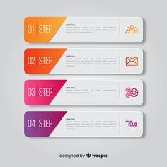 Steps infographic with slide shapes Free. Template Web, Powerpoint Design Templates, Powerpoint Themes, Booklet Design, Flyer Template, Web Design, App Ui Design, Brochure Design, Design Layouts