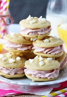 Lemon Raspberry Cookie Sandwich
