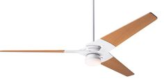Modern Fan Torsion Gloss White, 62 Maple Blades, with LED Light