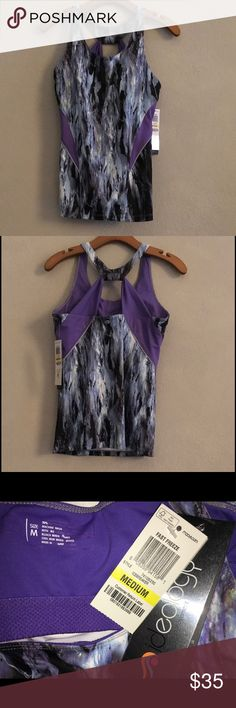 Ideology Sports Top w/ Built-in Bra ✨NWT✨ This is beautiful in person.  The back is super cute!  The longer length workout tops are just not my preference, despite how hard I try to like (and buy) them.  See my other closet items for similar items.  🚫No Trades❗️Reasonable offers only 🎯 Ideology Tops Tank Tops