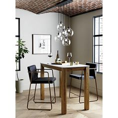 Need some help decorating your unique dining room design? We have the solutions! This contemporary dining room ideas are the perfect home interior decor you've been waiting for! Home Office Design, Interior Design Kitchen, Modern Interior, Kitchen Decor, Kitchen Ideas, Room Interior, Nice Kitchen, Decorating Kitchen, High Dining Table