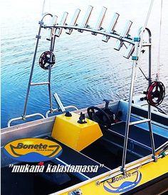 Fishing frame, Bonete PRO 150 for open boat / Nordic style Nordic Style, Boat, Frame, Fishing, Products, Picture Frame, Dinghy, Boats, A Frame