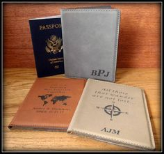 Farm Quotes Leatherette Passport Holder Personalized Double Sided