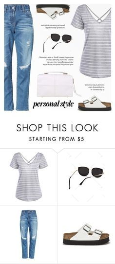"""""""Personal Style"""" by novalikarida ❤ liked on Polyvore featuring AG Adriano Goldschmied and Birkenstock"""