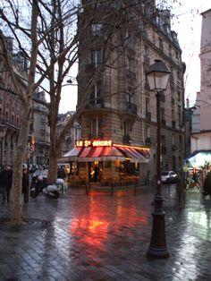 Paris -- In the rain.