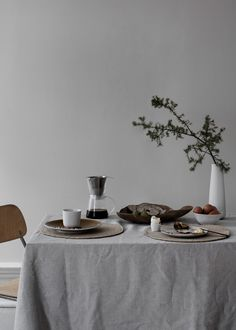 Dixie Sweden A/W17 // Scandinavian interior design // Table Setting // Art Direction and concept by Aoki // Photography by Alice J // Styling by Elin Odnegård
