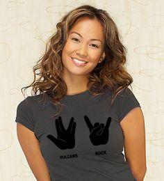 Vulcans Rock Sign Language T-Shirt | Funny graphic tees at WHOA t-shirts