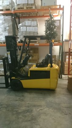 Our second candid shot for GIS Candid Fridays shows our handy dandy forklift decked out for the Christmas season. Even our trusty parnter's got to get the seasonal lovin'