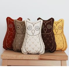 Owl pillows-they look so good together