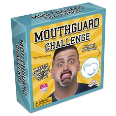"- Mouthguard Challenge Family and Party Game - Includes everything you need to play this hilarious and fun game: - Contains not only speak out phrases, but also more ""extreme"" challenges - Features 51"