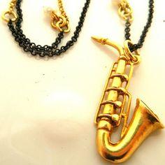 Saxophone Necklace by Mapcat on Opensky