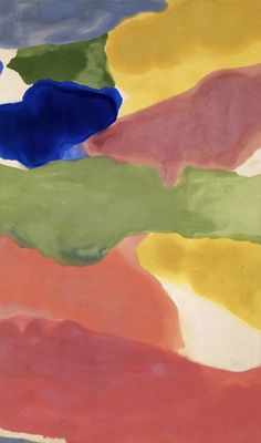 Helen Frankenthaler, Tutti-Frutti, 1966. Acrylic On Canvas, 116 3/4 x 69 in., 296.545 x 175.26 cm. Albright-Knox Art Gallery. Gift of Seymour H. Knox, Jr., ...