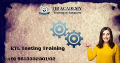 ETL stands for Extract-Transform-Load. There are five sequential steps in data warehouse management. They are requirement and analysis, data acquisition, business logic implementation, data mart building and report building. TIBAcademy is the best ETL Testing training institute in Bangalore.