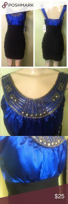 ✨Trixxi Blue/ Black Fitted Dress✨ Brand New with Tags✨ Trixxi Dresses