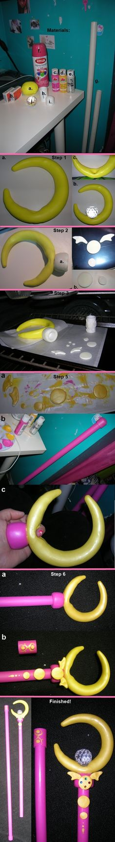 Tutorial: Sailor Moon's Wand by onesky-1destiny.deviantart.com on @deviantART