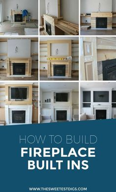 Want to build some DIY fireplace built ins in your living room? Building these cabinets, shelves, mantle, and recessed spot for the TV has added so much character to our home. Check out the play-by-play of how we created these using MDF,…Read Build A Fireplace, Fireplace Built Ins, Home Fireplace, Faux Fireplace, Fireplace Remodel, Living Room With Fireplace, Fireplace Design, Fireplace Mantels, Farmhouse Fireplace