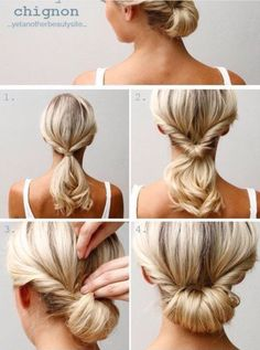 Simple work hairstyle