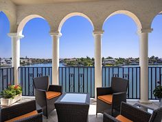 View from Venetian Villas - Park Shore - Venetian Village - lanai - columns - outdoor living