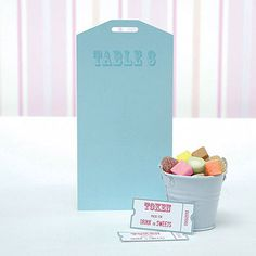 Blue Carnival Table Plan Tags Pack