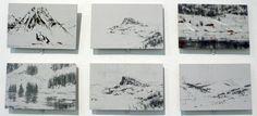 The work of Calo Carratala. Developed during his art residence at Kunstnarhuset Messen in Alvik, Norway. Journal Ideas, Norway, Original Artwork, Photo Wall, Gallery Wall, Artsy, Ink, Drawings, Frame