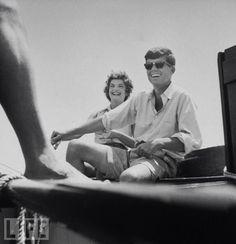 Jack and Jackie Kennedy, Cape Cod, 1953.