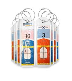 Cruise Luggage Tags Holders 8 Pc for Royal Caribbean & Celebrity Cruise Ships - great for ensuring your luggage will arrive to your cabin. Find out more at www.myvirtualvacations.net
