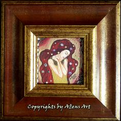 MINIATURE AMADEA Mixed media on canvas: 10 x 10 cm; Frame: 24 x 24 cm
