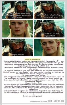 The layers of beauty that went into creating the Lord of the Rings, and Tolkien's world.  Legolas and Gimli...three strands of hair