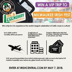 Be in with the chance to a VIP experience at the 2018 Milwaukee Irish Fest.