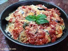 Parmigiana di melanzane ( versione napoletana) anche molto buona con la mozzarella al posto della scamorza