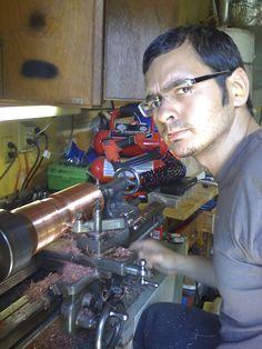 Sal, working hard on his lamp. Metal Lathe Projects, Working Hard, Work Hard, Hard Work