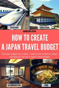 Creating a Japan Travel Budget is an essential step that you must do before getting to the country. Learn how to Create A Japan Travel Budget with example budgets for 1 week, 2 weeks and 3 weeks in Japan Japan Travel Guide, Tokyo Travel, Asia Travel, Travel Icon, Work Travel, Kyoto, Japan Holidays, Budget Holidays, Disneyland