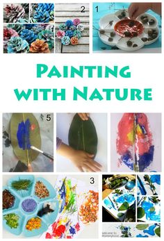 1000 images about nature art projects for kids on for Painting with nature items