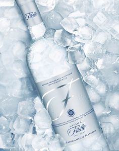 """Acqua Filette: """"My most favorite Italian water brand and the only international one that comes from Lazio/Rome. Water Bottle Logos, Water Bottle Design, Vodka Bottle, Water Bottles, Water Packaging, Water Branding, Beverage Packaging, Italian Water, Advertising Pictures"""