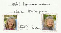 MYROYALS &HOLLYWOOD FASHİON: New website of the Spanish Royal Family for Kids with pictures and signatures of Infanta Leonor and Infanta Sofia