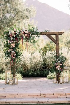 Romantic Fall Desert Wedding at El Chorro in Paradise Valley We're completely obsessed with this adorable duo. You need to see the way this Groom swoons over his Bride! Romantic Wedding Receptions, Wedding Ceremony Arch, Romantic Weddings, Wedding Venues, Fall Wedding Arches, Wedding Backdrops, Chapel Wedding, Paradise Valley, Floral Wedding