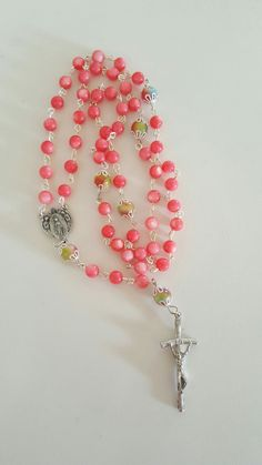 Ultimate Feminine Rosary is Pink Jasper! by AutumnsBlessing on Etsy