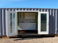 This post features the top 10 shipping container tiny houses from all around the Internet. From inexpensive DIY projects to architect designed container homes. Shipping Container Conversions, Shipping Container House Plans, Shipping Containers, Building A Container Home, Container Cabin, Cargo Container, Container Gardening, Container Architecture, Container Buildings