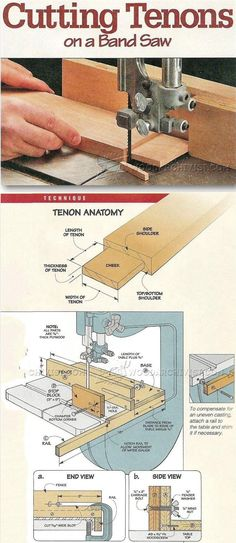 Tenon Joint on a Band Saw - Joinery Tips, Jigs and Techniques   WoodArchivist.com