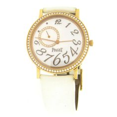 Piaget Lady's Yellow Gold Mecanique Mother-of-Pearl Diamond Dial Wristwatch
