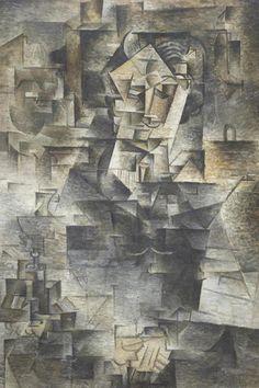 Pablo Picasso ~ Daniel-Henry Kahnweiler ~ 1910 ~ Olieverf op doek ~ x cm. ~ Art Institute of Chicago Pablo Picasso, Picasso Cubism, Guernica, Canvas Artwork, Canvas Wall Art, Picasso Prints, Cubist Movement, Georges Braque, National Portrait Gallery