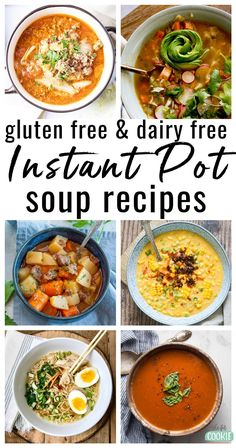 Warm up this fall and winter with these delicious and unique dairy free and gluten free instant pot soup recipes! We've gathered 40 allergy friendly soups together in this post for you to enjoy. Dairy Free Bread, Dairy Free Soup, Dairy Free Snacks, Dairy Free Breakfasts, Dairy Free Diet, Clean Eating, Healthy Soup Recipes, Dairy Recipes, Gluten Free Dairy Free Vegetarian Recipes