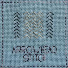 Steek 9, Arrowhead stitch - Pijlsteek