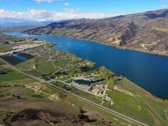 Aerial shot of Pisa Moorings and Lake Dunstan. Central Otago, South Island, Alps, Pisa, Biking, Shots, River, Outdoor, Outdoors