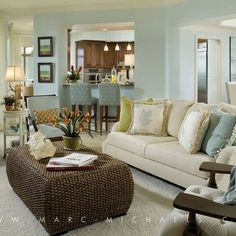 Coastal Living Room Design Ideas, Pictures, Remodel, and Decor - page 4